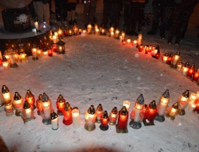 Serce dla zmarłego prezydenta Gdańska