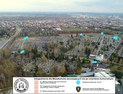 Cmentarz Komunalny przygotowany na dzień 1 listopada